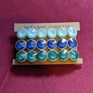 NIB Roxanne Assoulin Crystal Bracelets